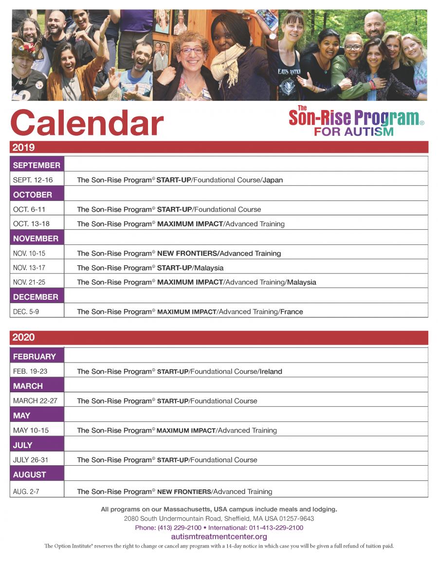 2020 ATCA program calendar